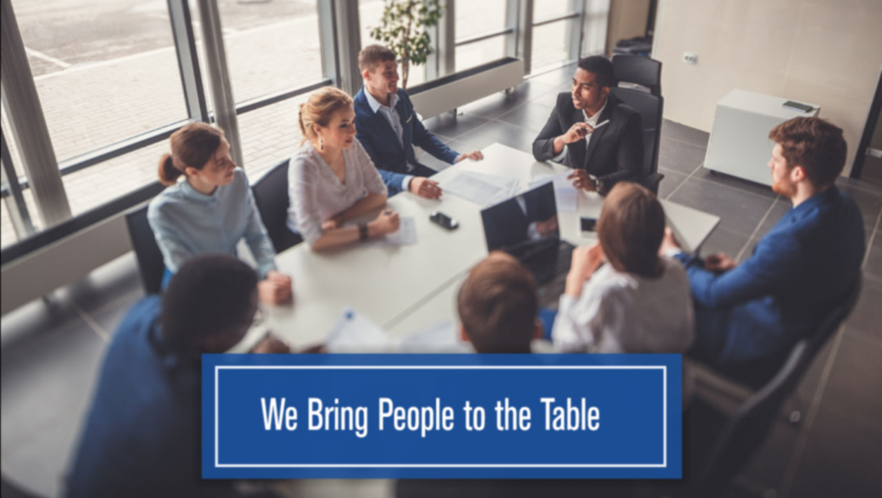 We Bring People To The Table